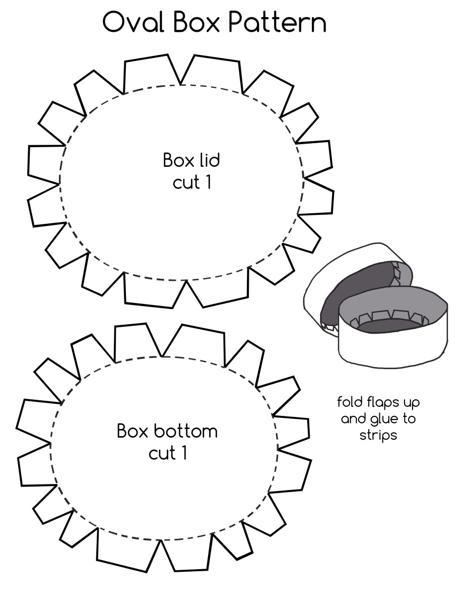 Oval Box pattern.  Download and copy onto your watercolor paper.  Cut strips for sides and lid.