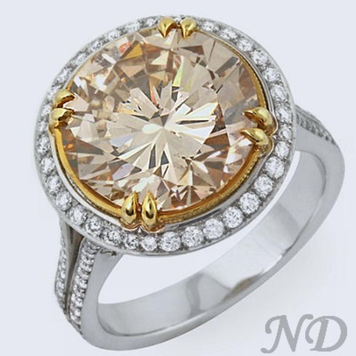 Light brown diamond
