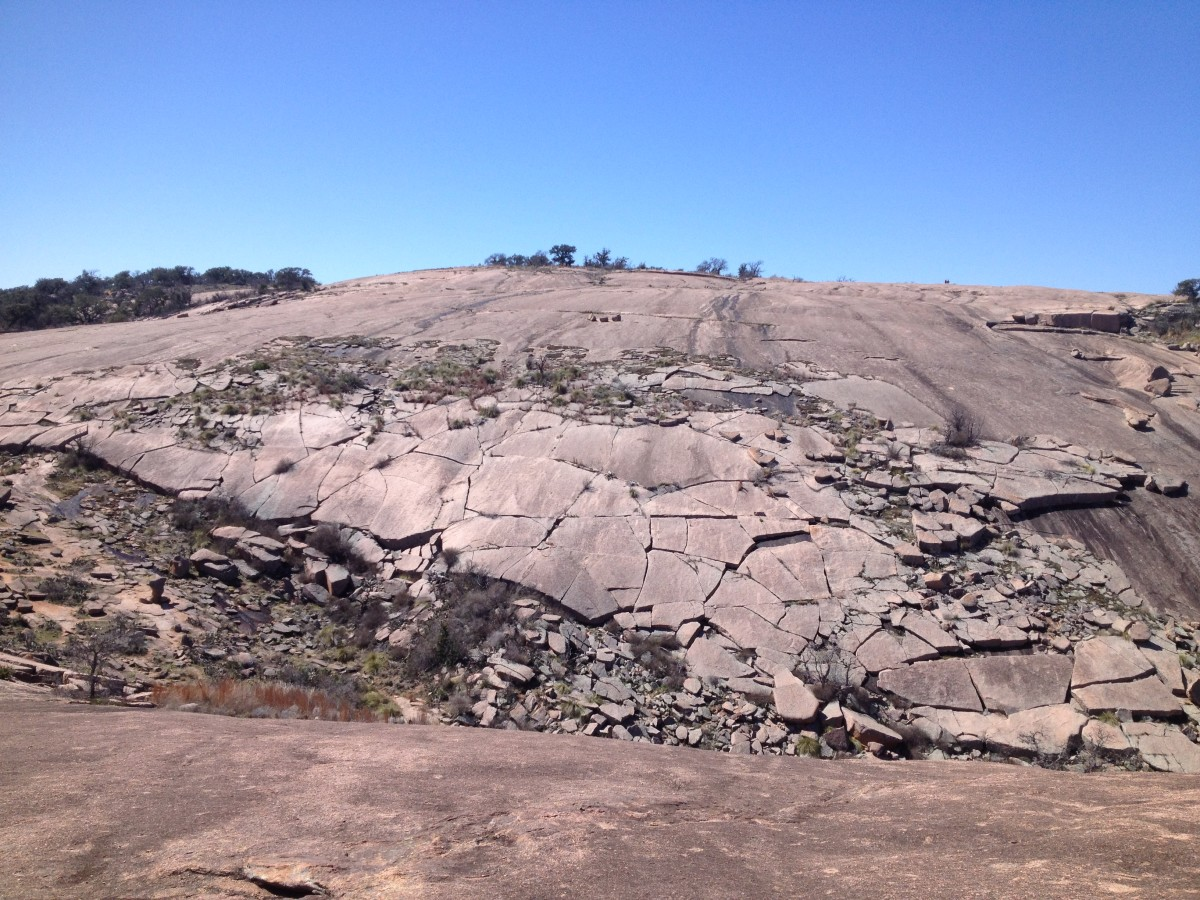 Granitic foliation at the Enchanted Rock