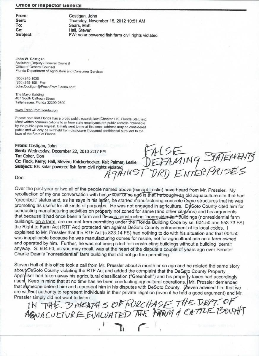 Aquafarm caretaker hired, $100 sent to Florida Department of Aquaculture