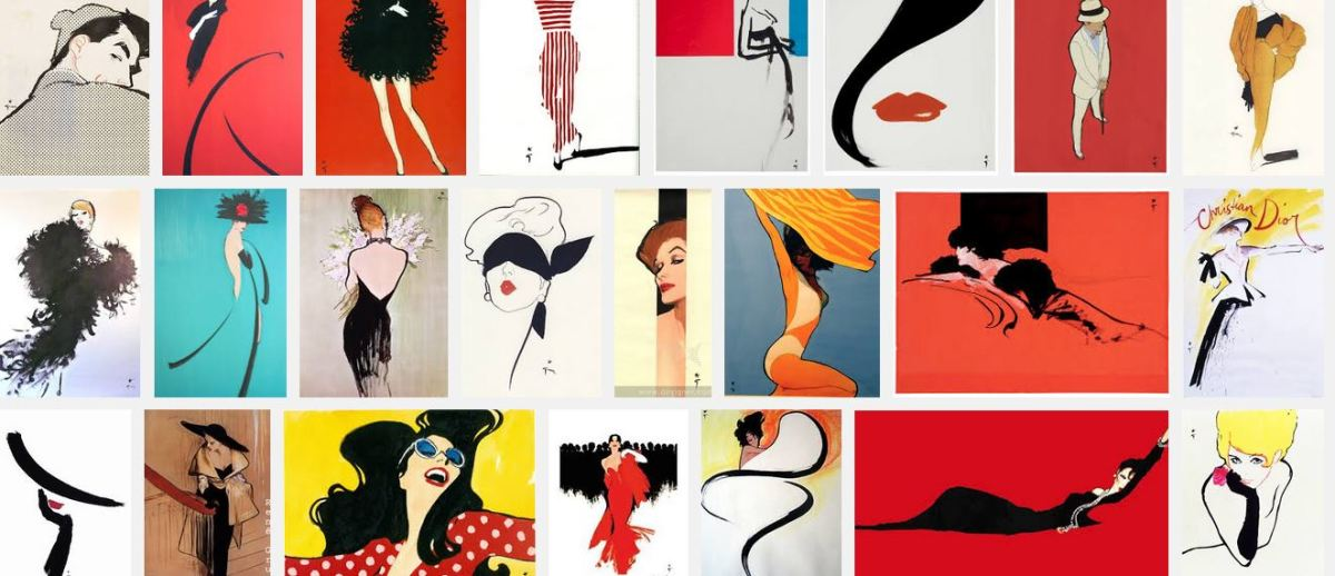 Rene Gruau, the most famous and influential fashion illustrator in the world.