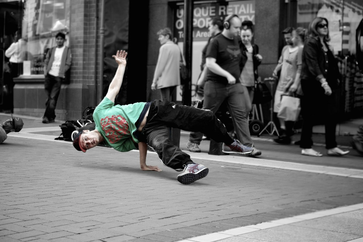 Break dancing is a popular street dance in America. It originates from Africa.