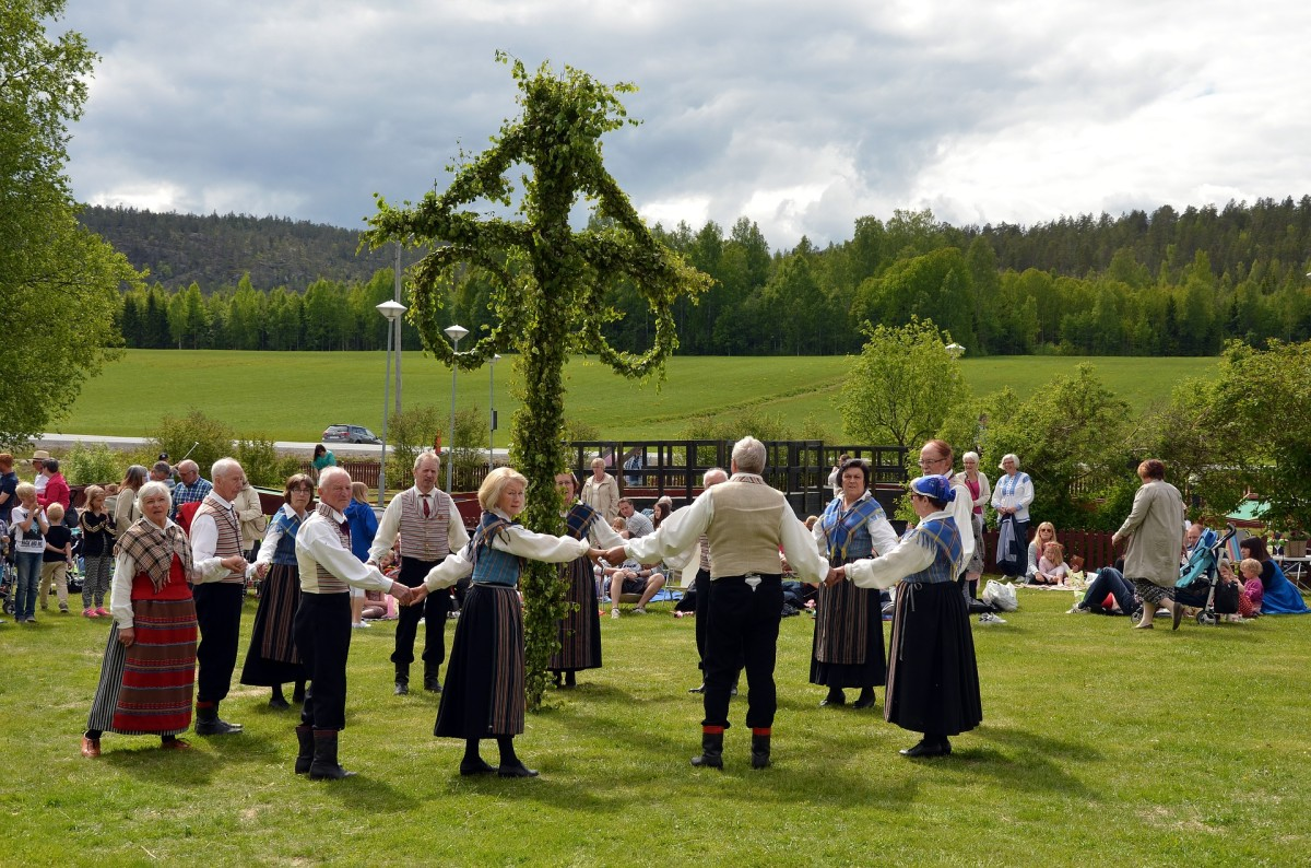 Folk dancing represents a community's interest of traditional customs.