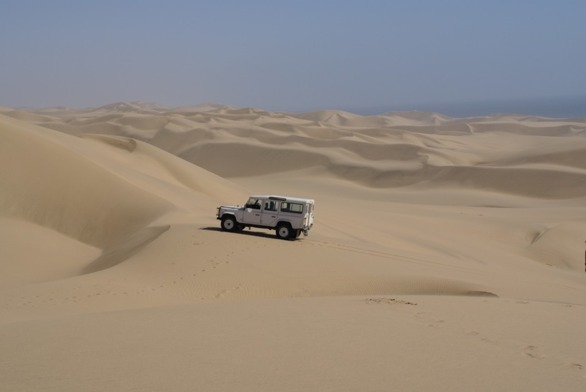 Landrover on dunes