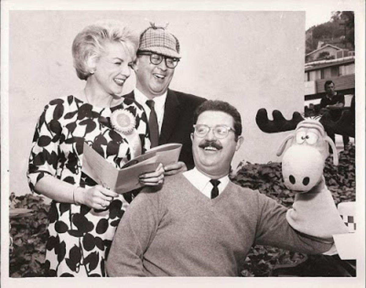 From left to right: June Foray, Bill Scott, and Jay Ward