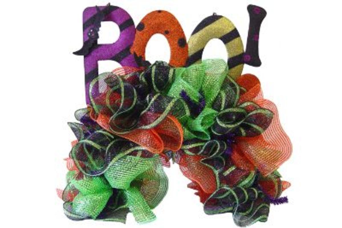 Boo! Mailbox Wreath