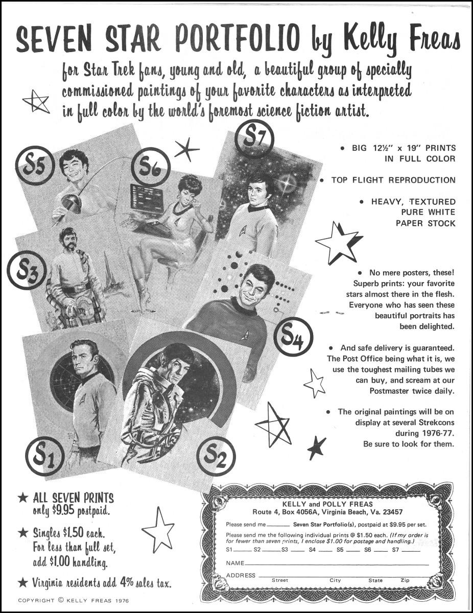 Seven Star Portfolio by Kelly Freas of Star Trek