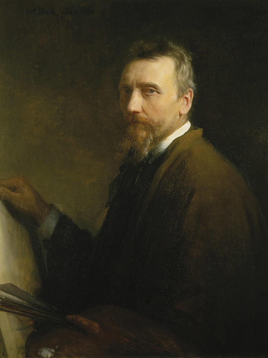 This is a portrait of the great religious painter, Carl Bloch