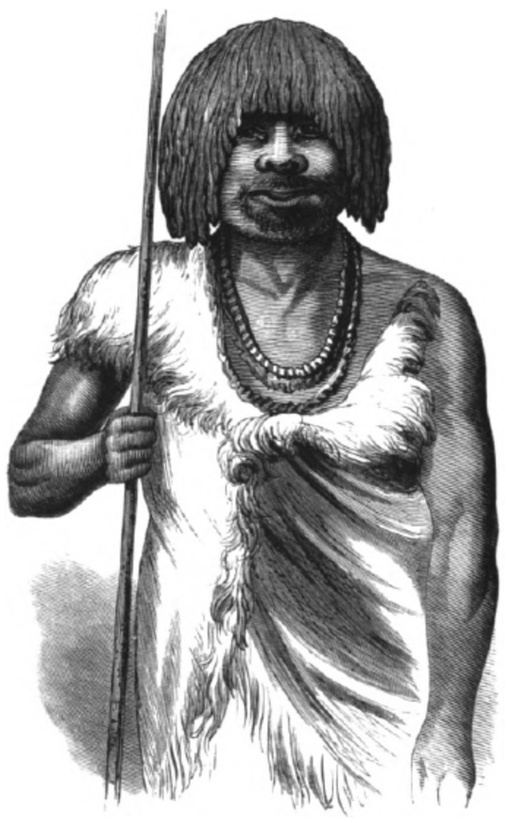 Woodcutting of a Tasmanian Aborigine