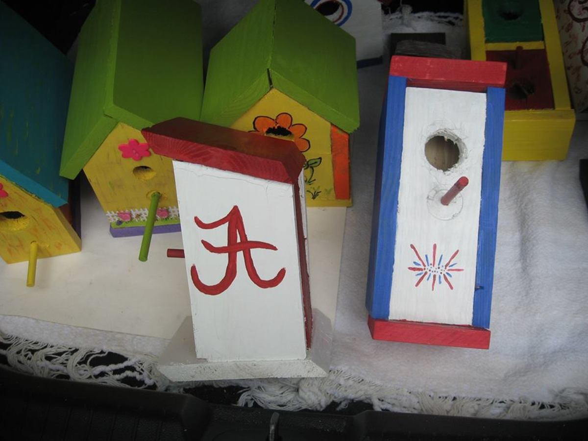 My first two birdhouses.