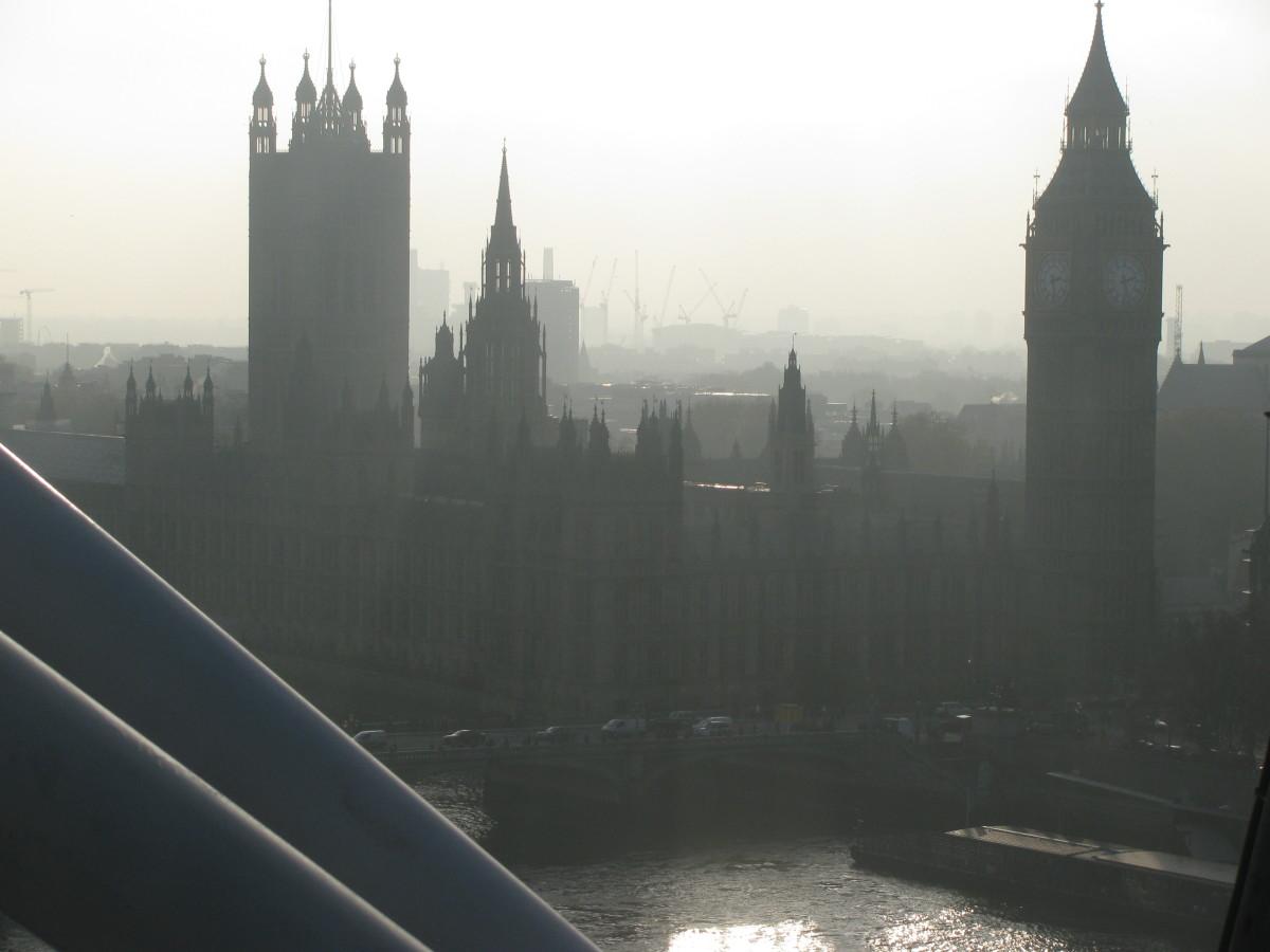 Taken from The London Eye at dusk