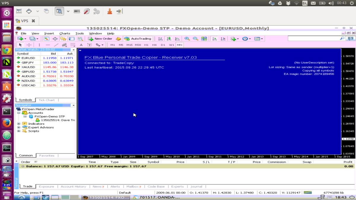 Multiple MT4 instances running on Ubuntu VPS