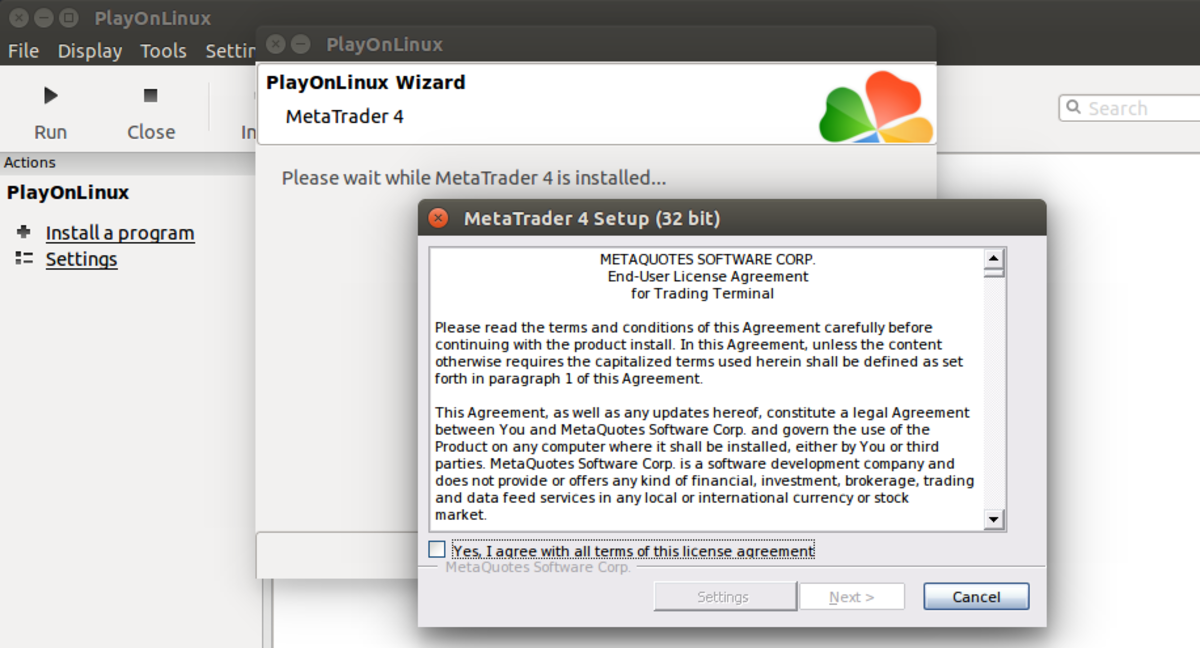How to Install Metatrader From Metaquotes on Ubuntu Linux Using Wine