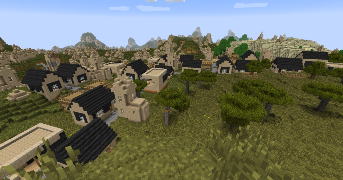 Village size can be adjusted in the configuration file, and while there is still no chance to encounter anything that could be called a city, the expanded towns can still be quite impressive.