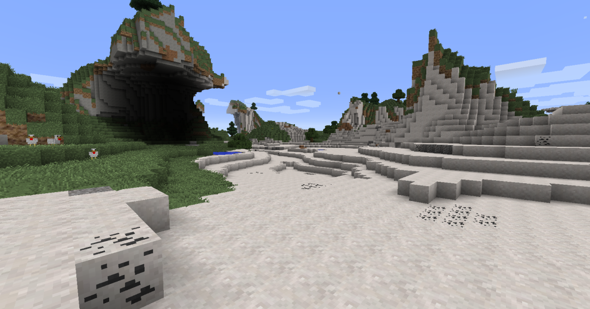 Even some of the original biomes can look rather different thanks to the new stone and dirt types.
