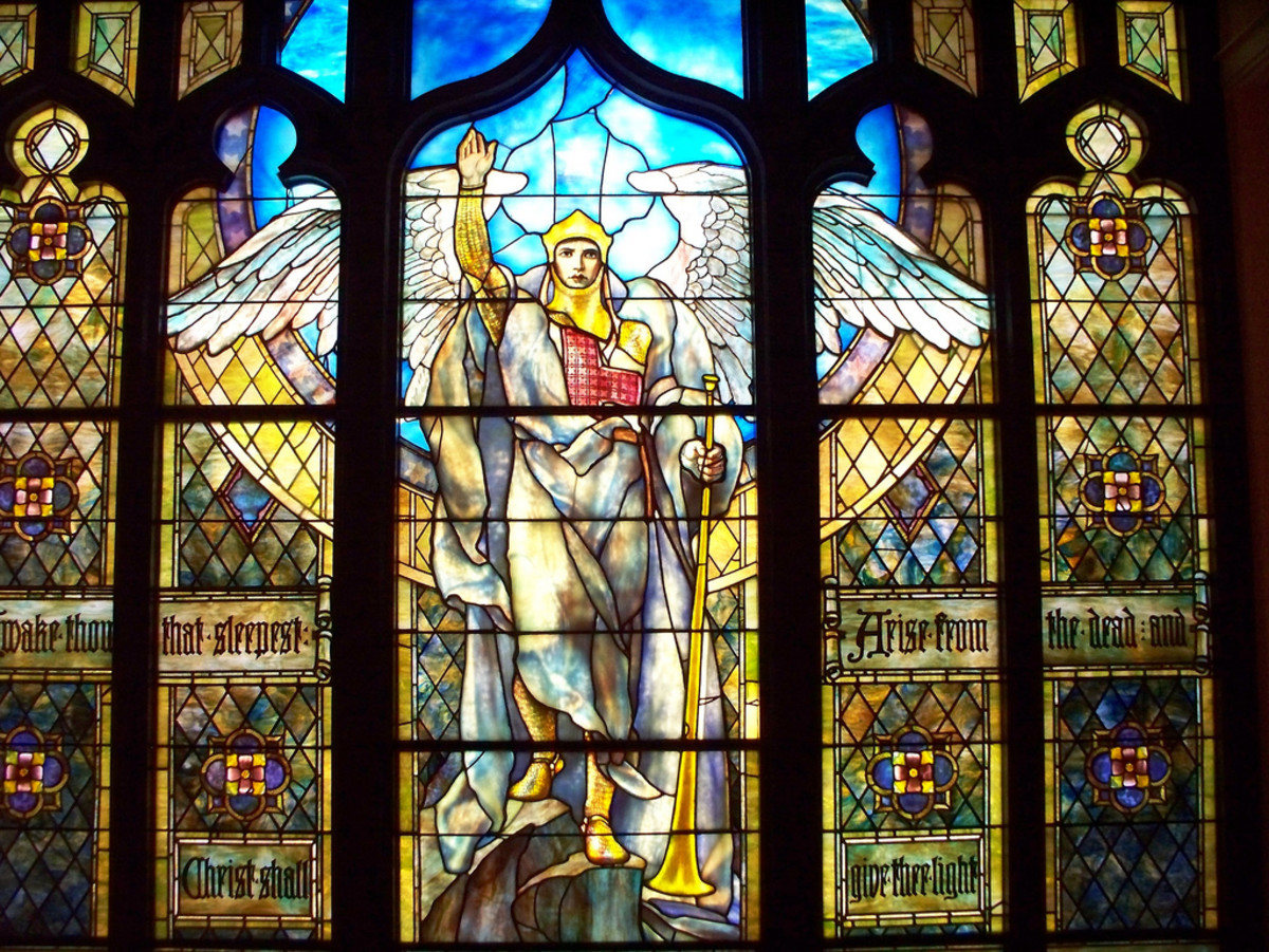 Angel of the Resurrection by Louis Comfort Tiffany, part of the permanent collection at the Indianapolis Museum of Art