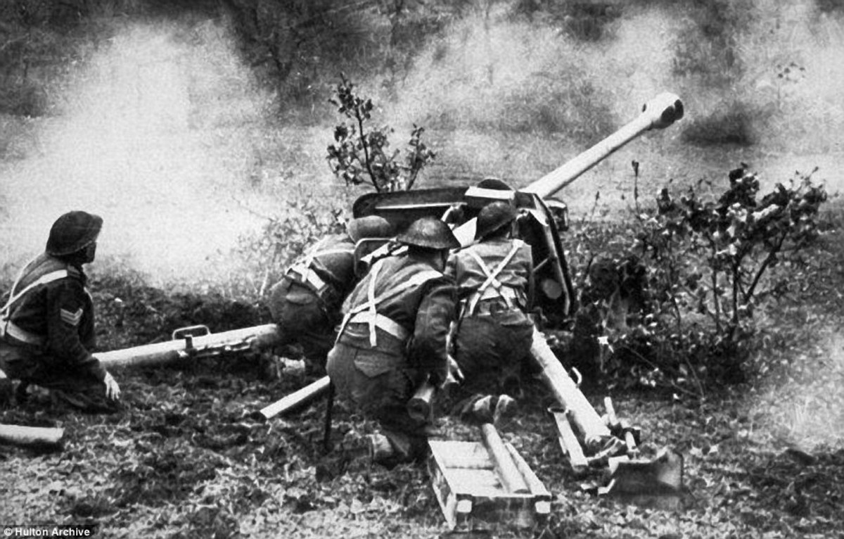 British artillery put down a supporting barrage
