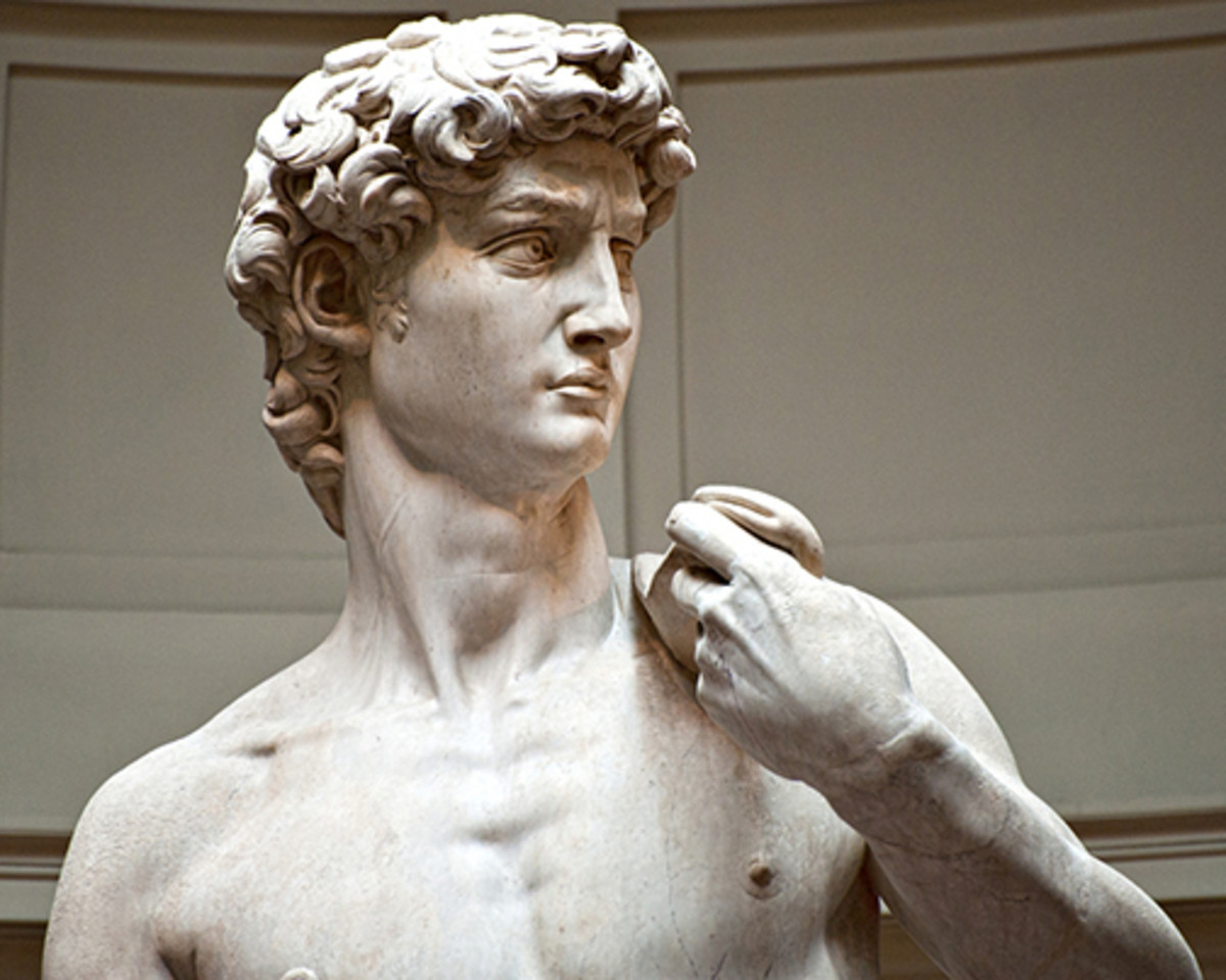 detail of David