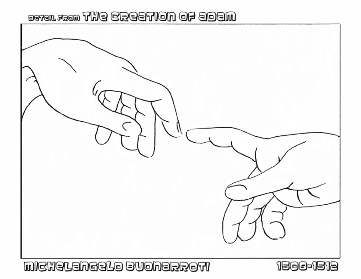 Coloring page from Classical Renaissance Art Coloring Book by Denise McGill