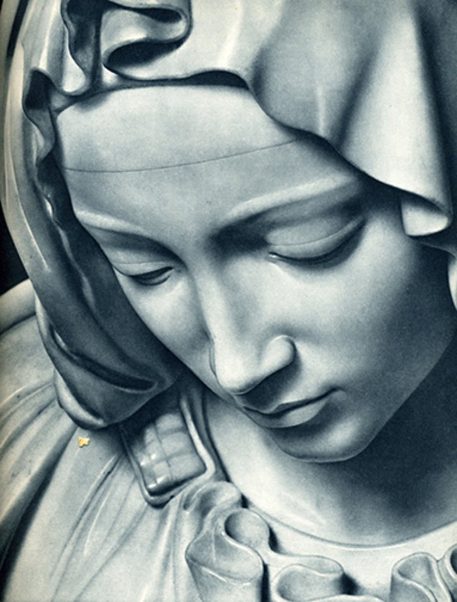 detail of the Virgin Mary