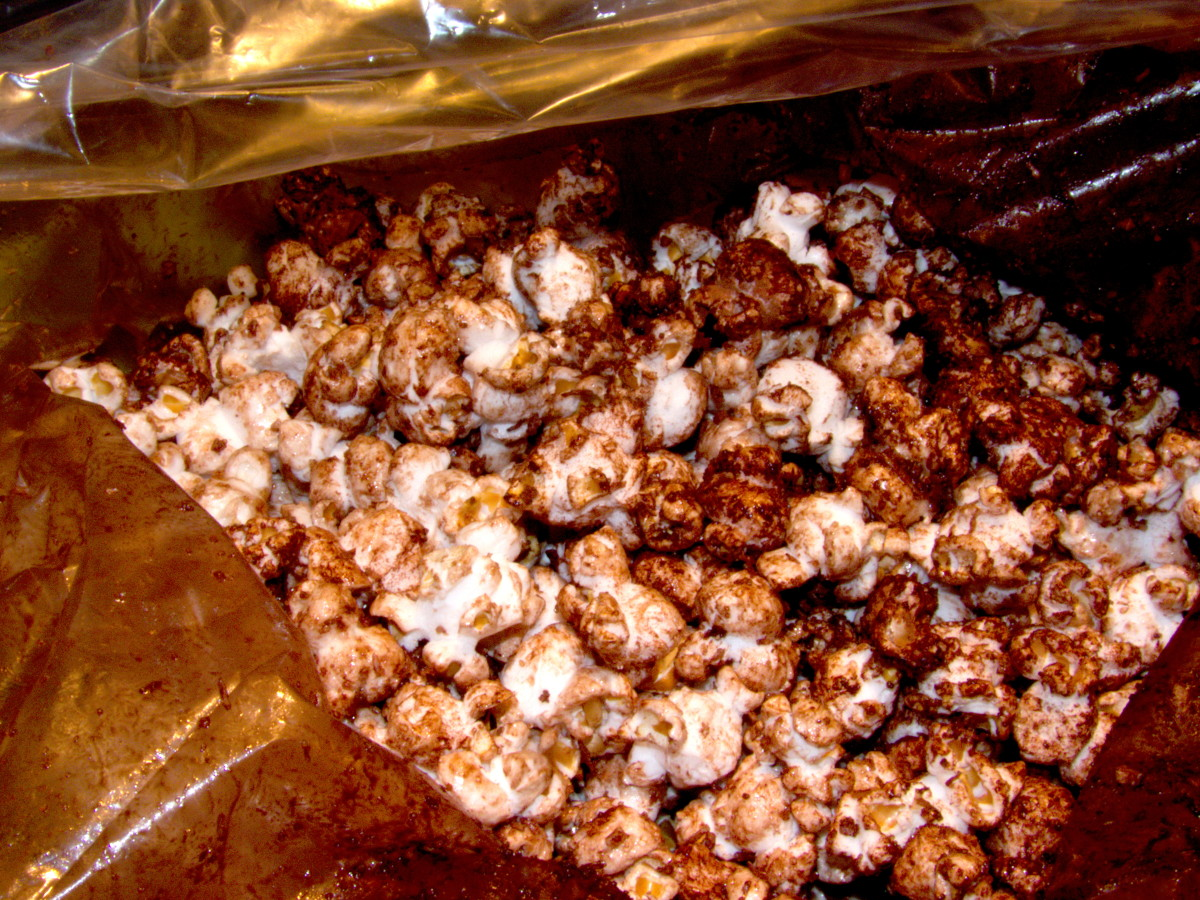 Homemade popcorn or another sweet treat. Mine adores chocolate, caffeine and sugar.