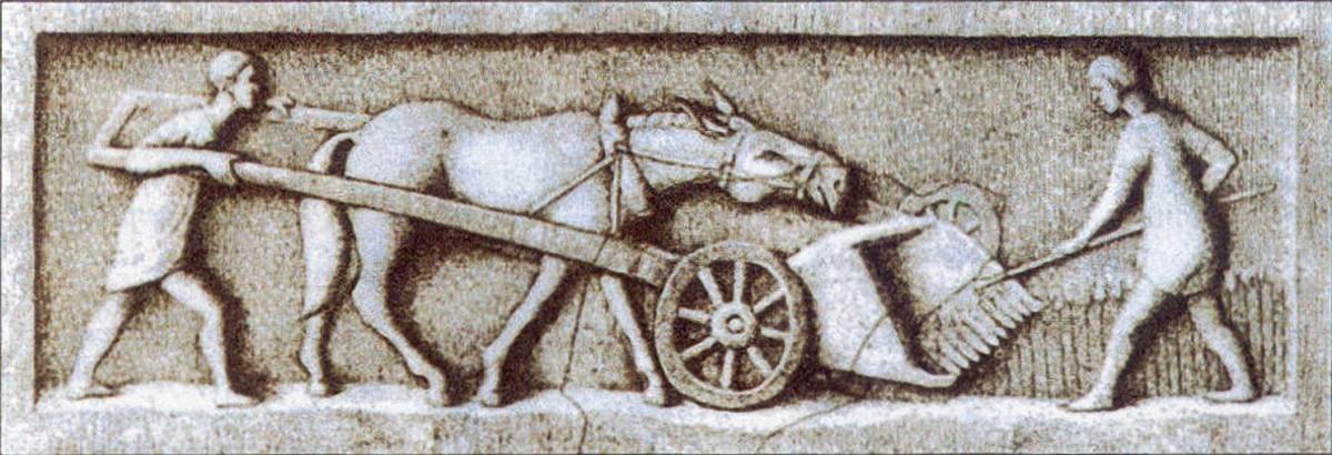 Gallo-Roman harvesting machine