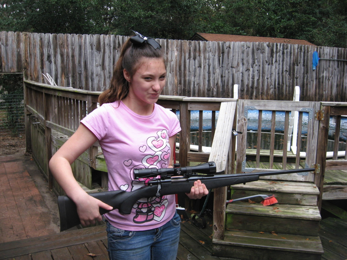As they get old enough, we teach our grandkids to handle guns safely.