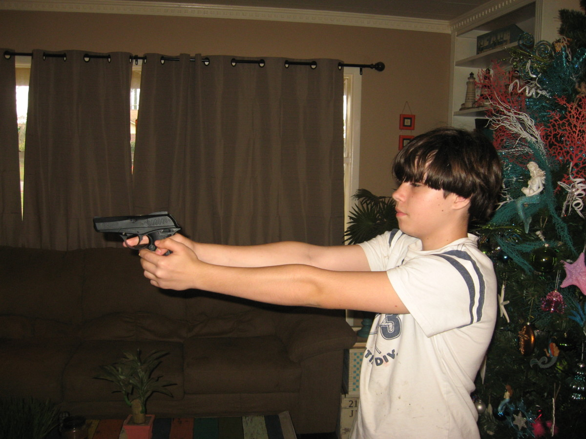 BB and pellet guns are a good way to start with gun safety.