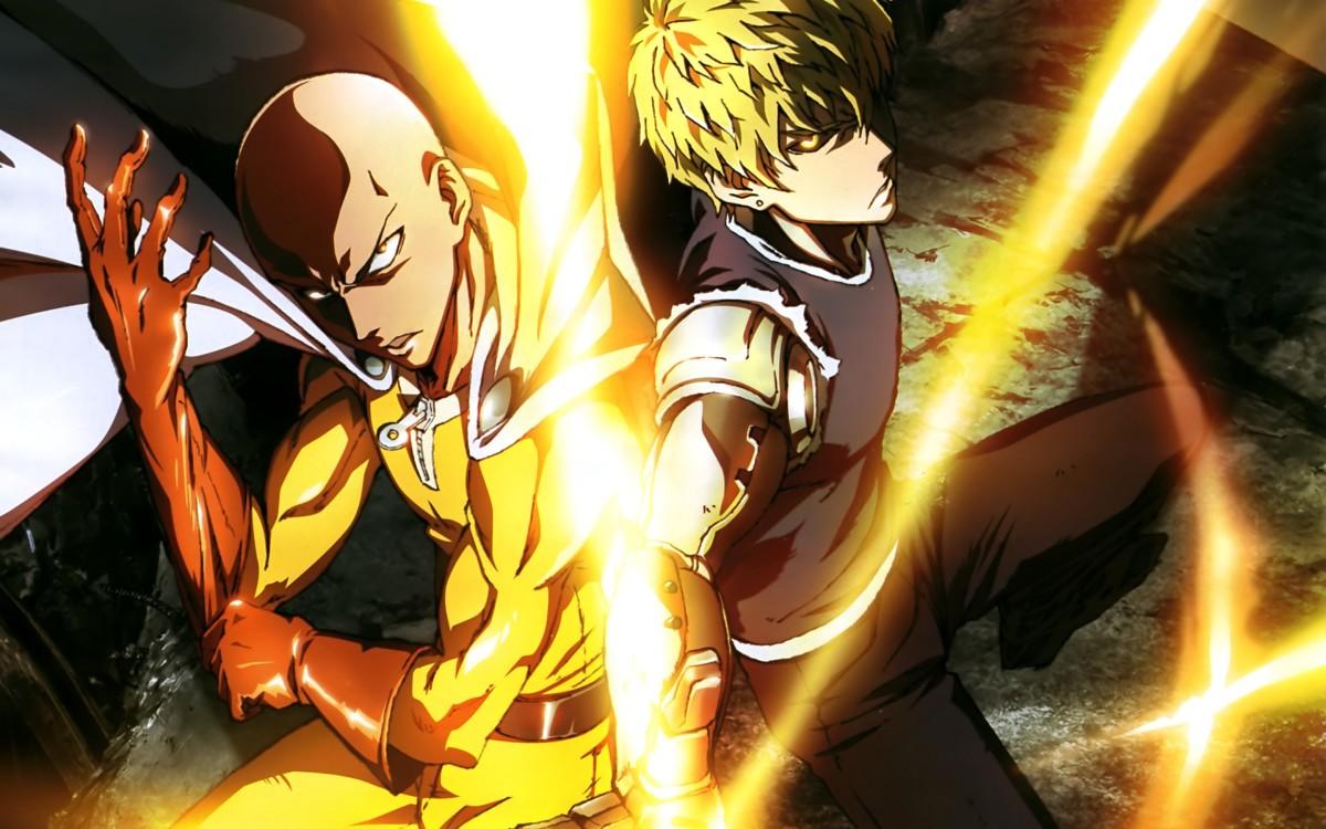 Saitama and Genos.