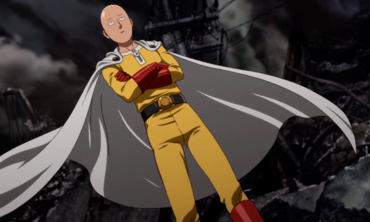 Saitama in his costume.