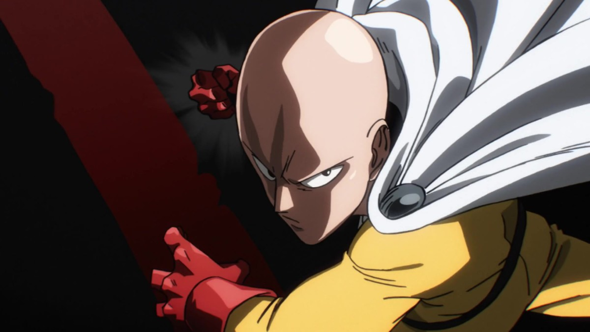 Saitama prepares for his Serious Strike.