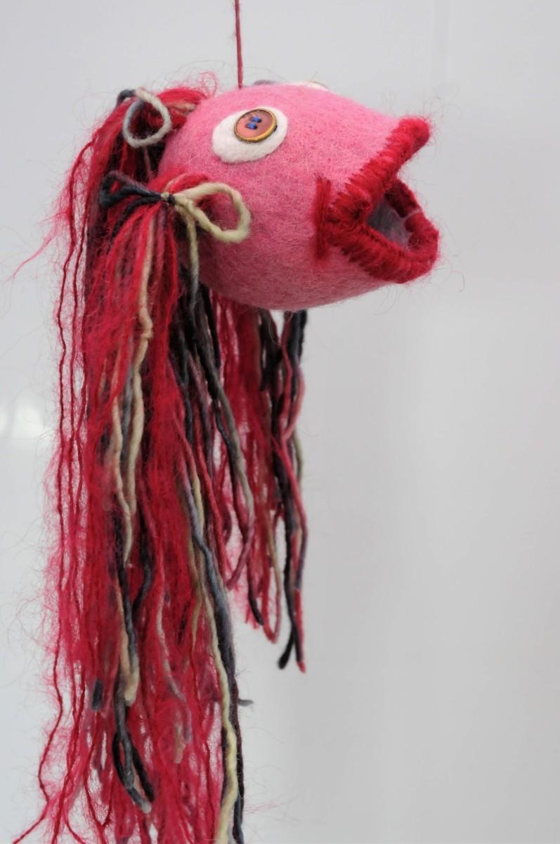 Full length image of 'Gobby' the felt fish