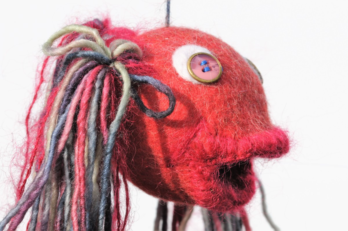 'Gobby' the felt fish