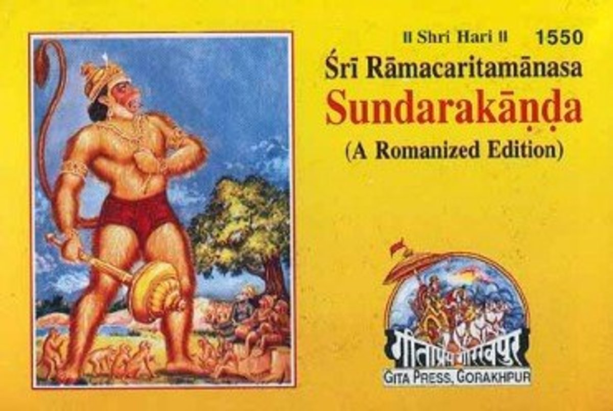 Easy to read book of Sundara kanda available in English and Hindi languages at Geeta Press, Gorakhpur, India