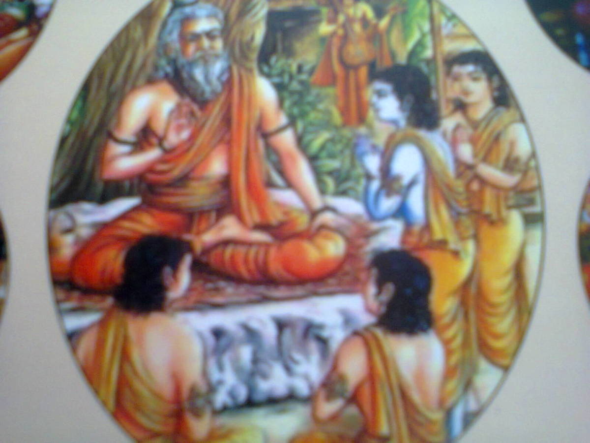 Valmiki is author of original Ramayana in sanskrit and also teacher for Rama's sons Luv and Kush.
