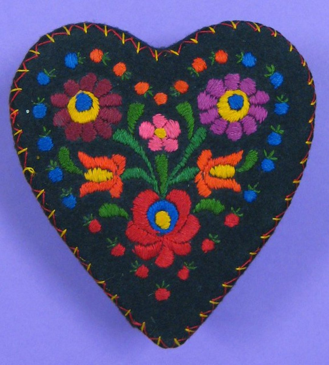 Bright And Bold Hungarian Embroidery