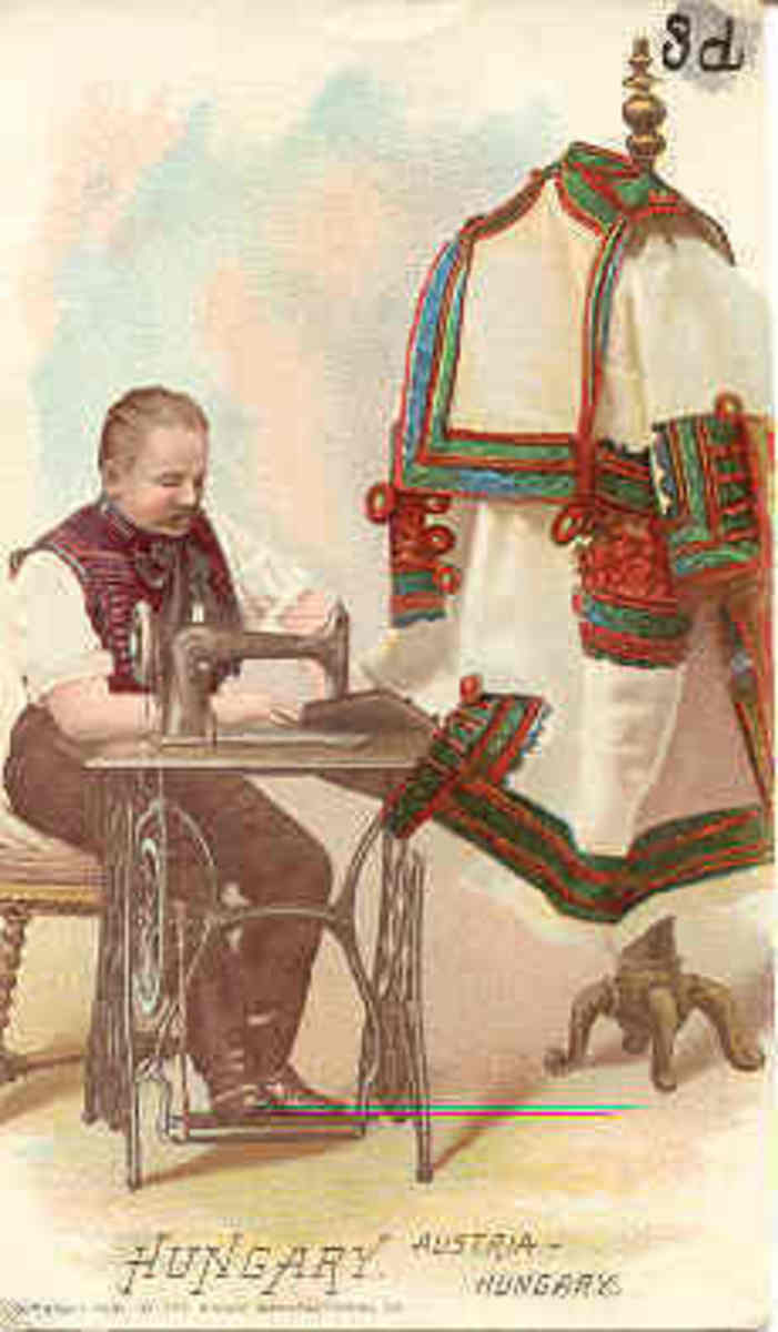 Men embroidered leather goods, especially the indigenous style of coats.
