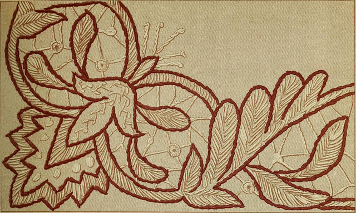 Linen embroidery circa 1882