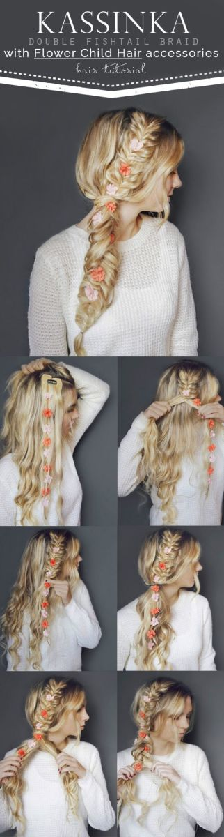 Double Fish tail braid with extension tutorial with pictures