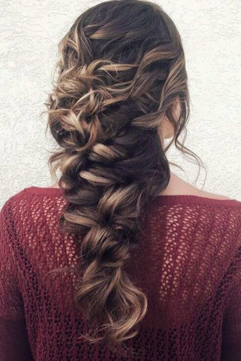 messy braid hairstyle for weddings