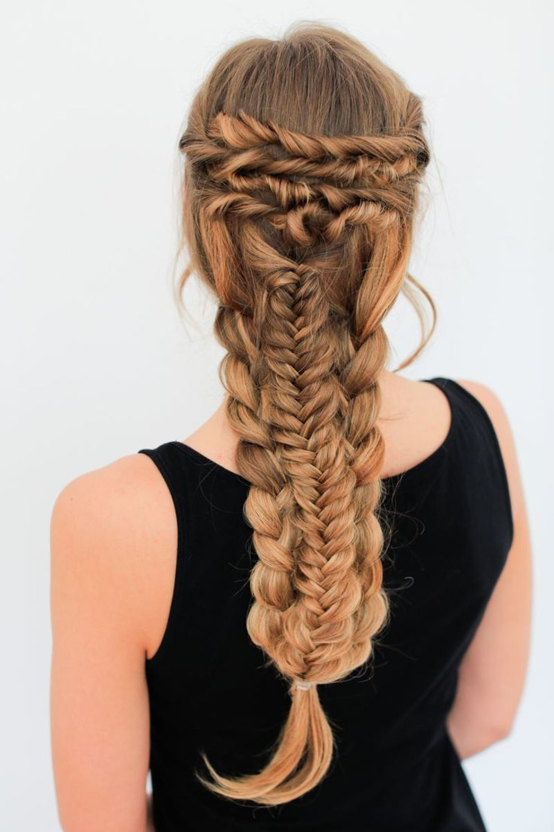 intricate braid style