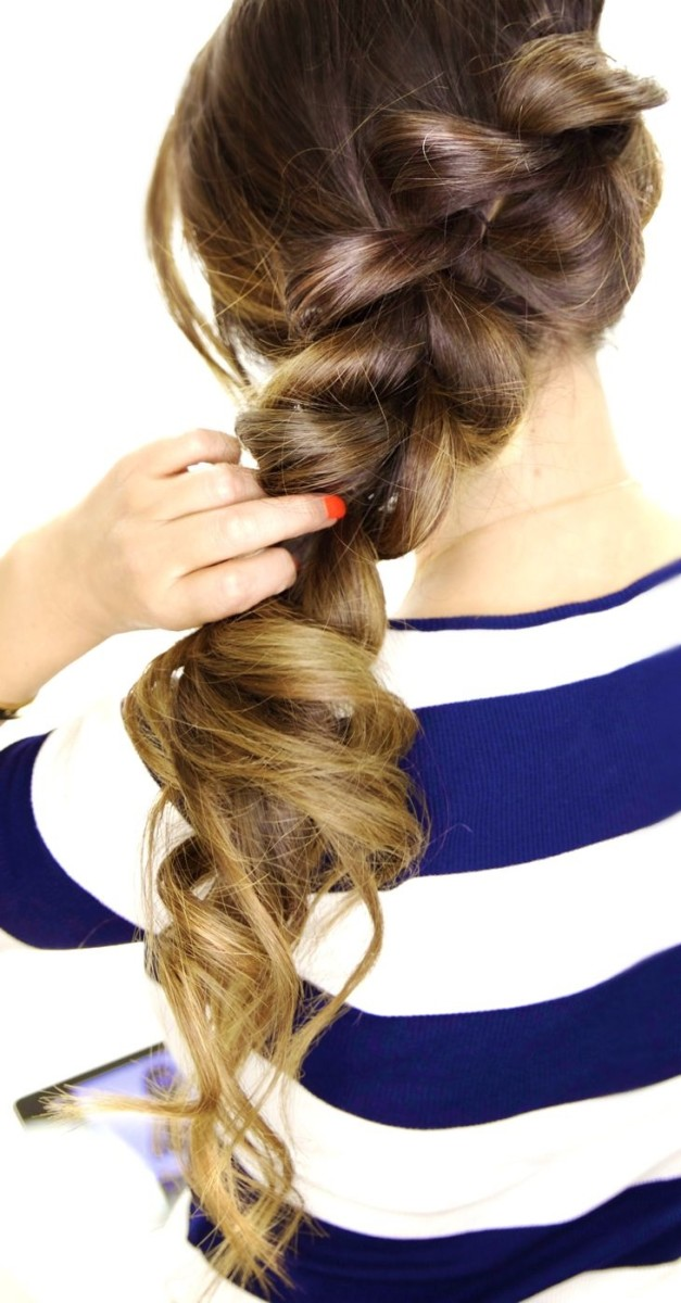 golden hair braid