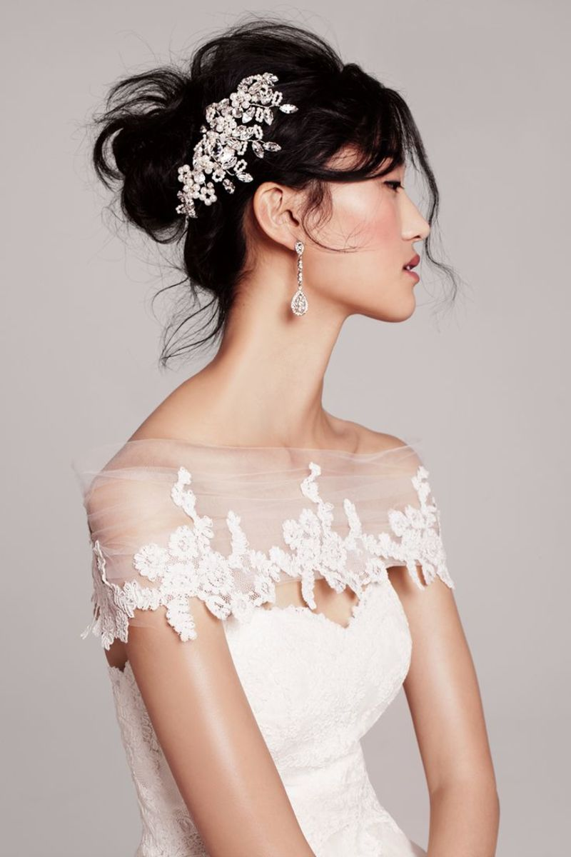 artfully messy hair do for brides