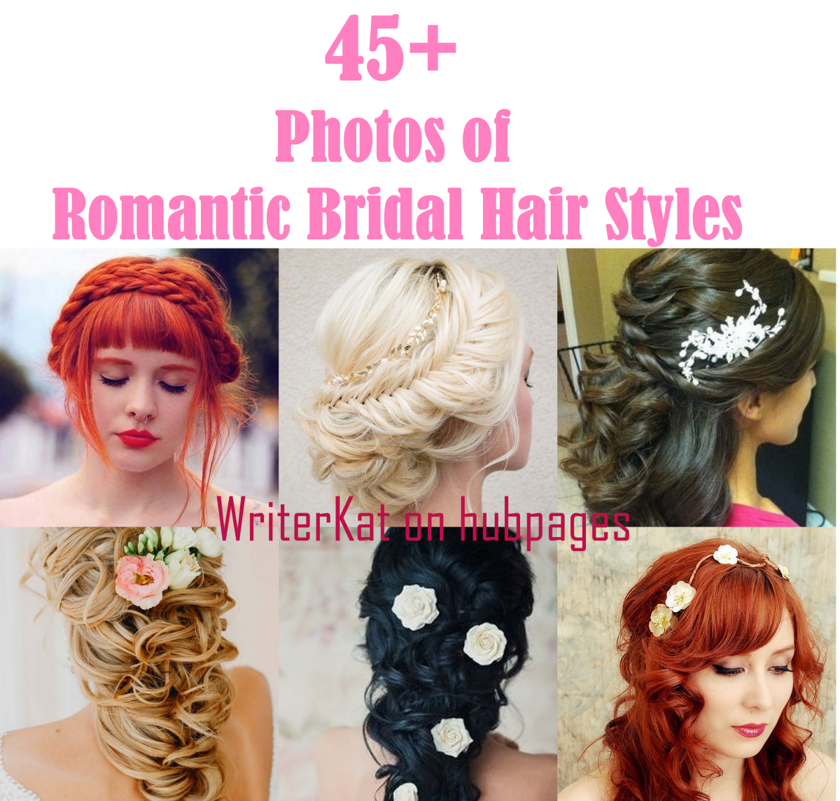 45 + photos of Romantic bridal hair styles