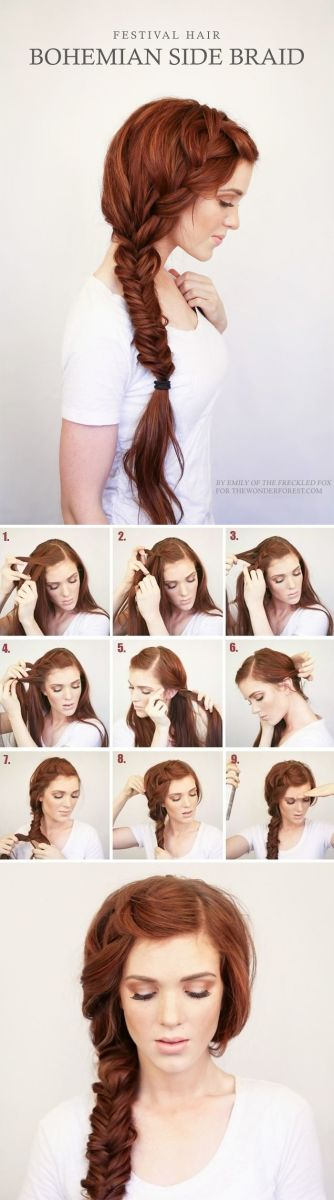 Bridal hair braid tutorial with photographs