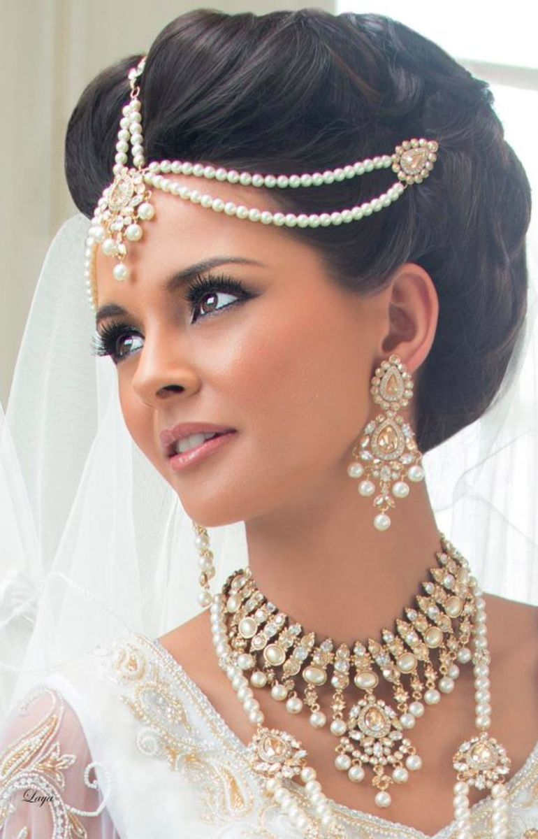 Indian bride with hair up do