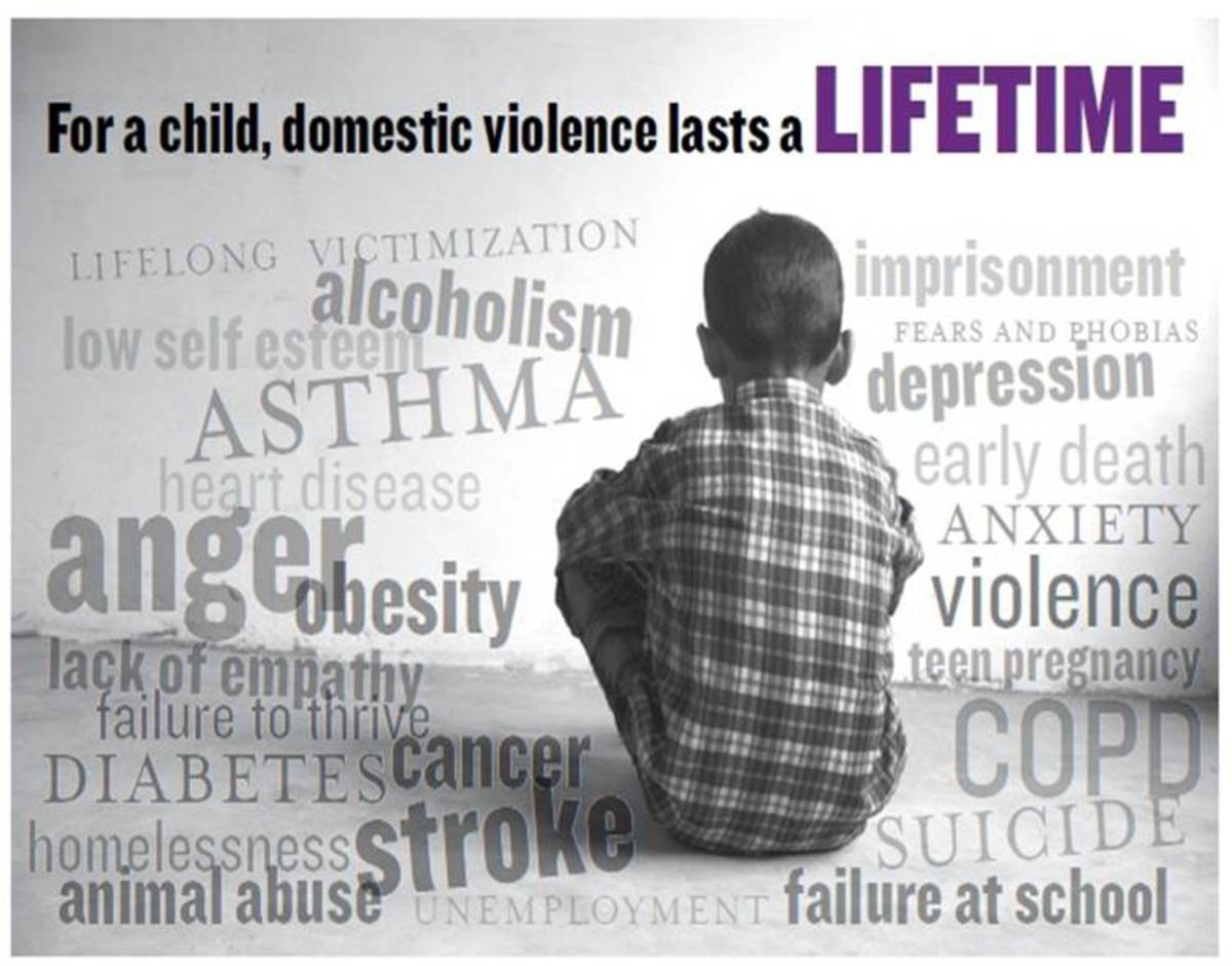 Effects of DV exposure on children can be short or long term