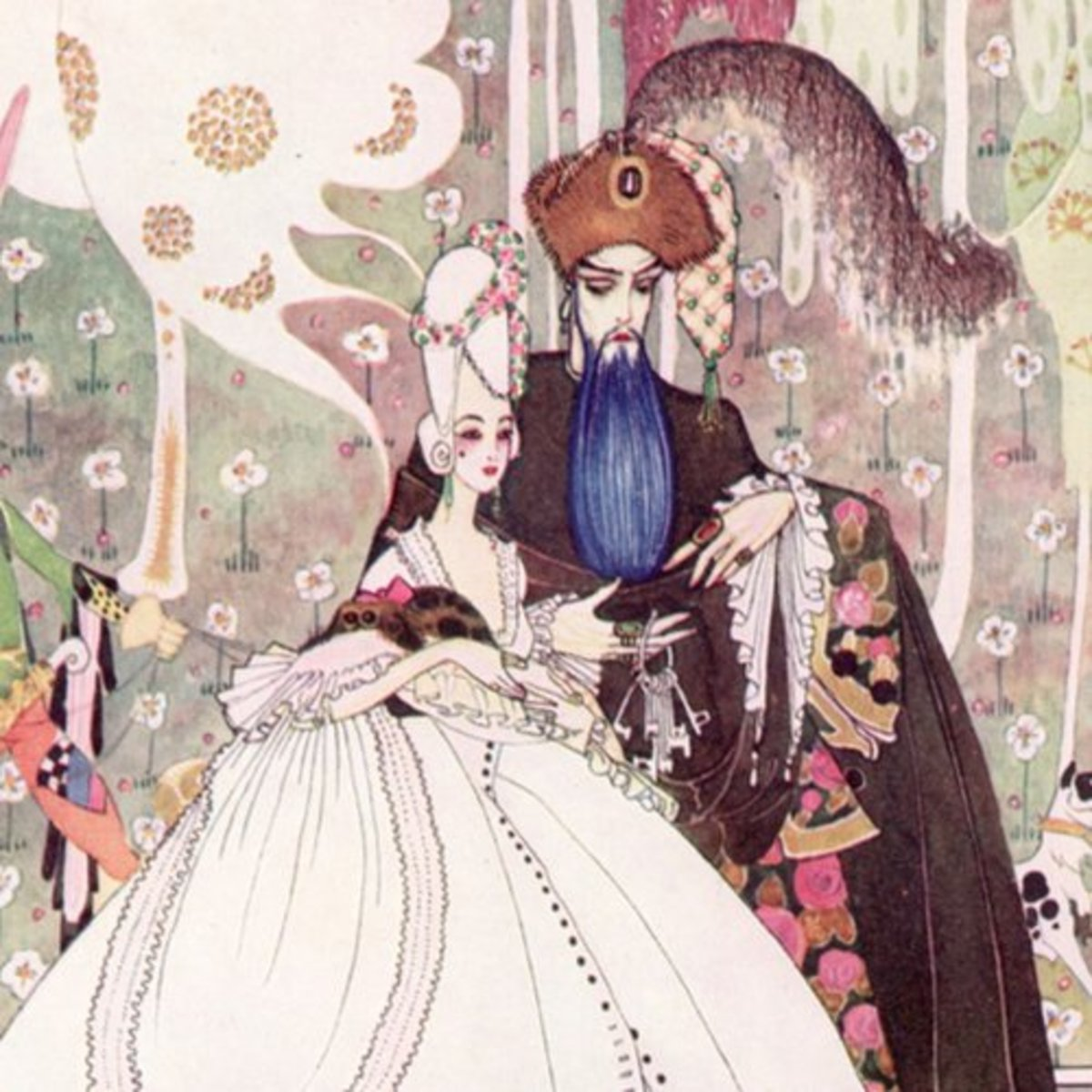 "Here we show a portion of ""Bluebeard"" - a design by Kay Nielsen from a suite inspired by the Fairy Tales of Charles Perrault."