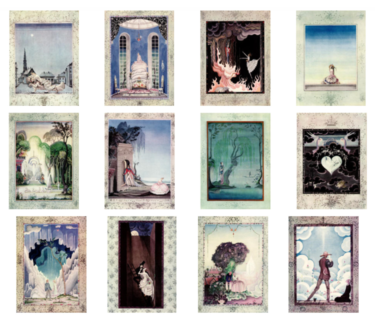 "Here we show each of the color designs by Kay Nielsen from his suite for ""Fairy Tales by Hans Anderson"" (1923)."