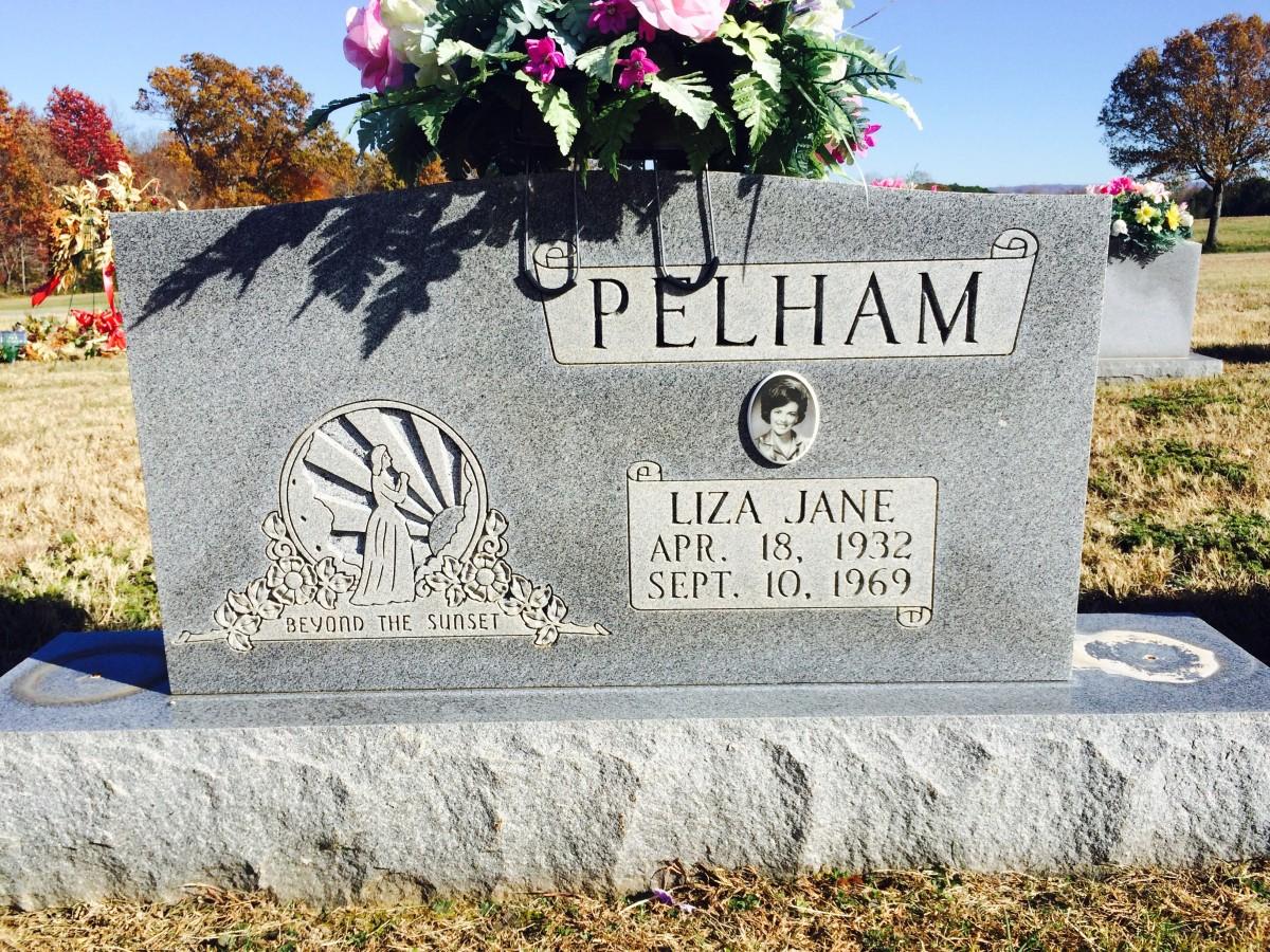 Liza Jane Pelham's grave in Morrison Cemetery, Warren County, Tennessee